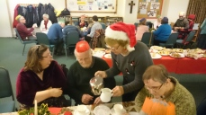 The Christmas Party at Sacred Heart Church.