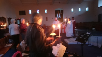 The Easter services at Sacred Heart Church.