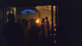 The Easter Vigil is celebrated at Sacred Heart, 2018.