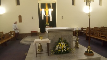 The day of resurrection...Sacred Heart Church at the Easter Vigil.